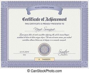qualificazione, certificato, sagoma