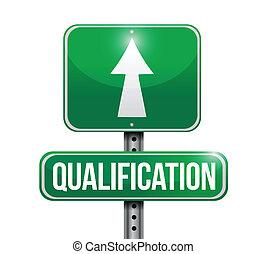 qualificazione, disegno, strada, illustrazione, segno