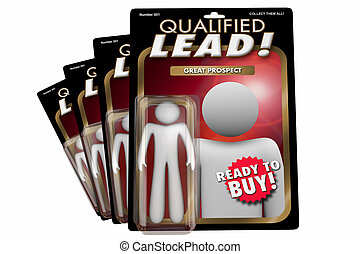 Qualified Lead New Customer Prospect Action Figure 3d Illustration