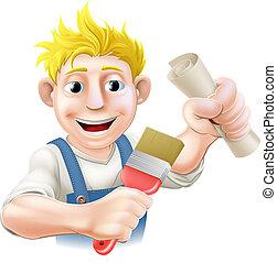 Qualified painter decorator