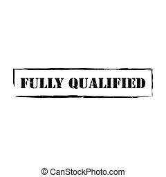 Qualified square grunge rubber stamp