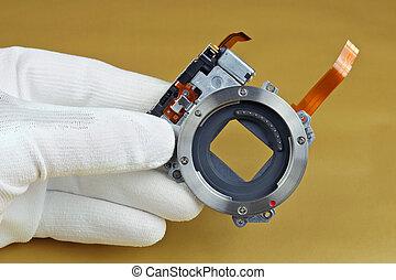 qualità, controlli, digitale, macchina fotografica foto, tecnico, unità, moderno, otturatore