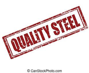 qualità, steel-stamp