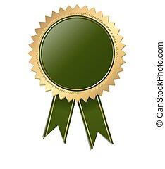 qualità, -, verde, sagoma, sigillo
