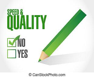 qualität, zeichen, geschwindigkeit, abbildung, nein
