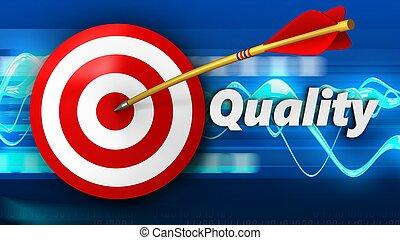 qualité, cible, 3d