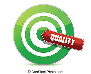 qualité, conception, cible, illustration