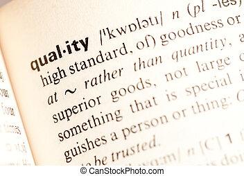 qualité, def