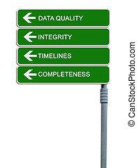 qualité, données, panneaux signalisations