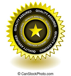 qualité, or, icône