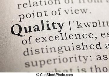 qualité