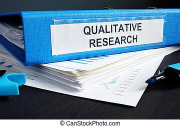 qualitativo, ricerca, metodi, relazione, in, uno, blu,...