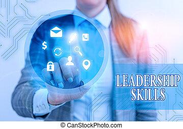 qualities, αρχηγία , εδάφιο , φωτογραφία , εκδήλωση , σχετικός με την σύλληψη ή αντίληψη , δεξιοτεχνία , σήμα , lead., ασκώ ισχυρή επίδραση , αρχή ταινίας , skills., ελκυστικός