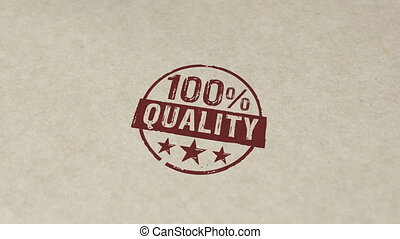 Quality 100 percent stamp and stamping animation