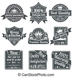 Quality and Guarantee Labels - Collection Best Quality and...