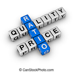 Quality and Price Ratio cubes crossword series