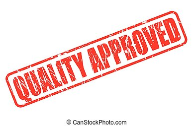QUALITY APPROVED RED STAMP TEXT