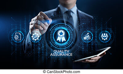 Quality assurance, Guarantee, Standards, ISO certification and standardization concept.