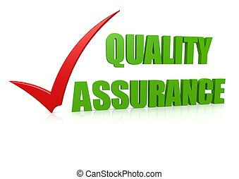 Quality assurance - Rendered artwork with white background