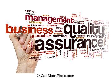 Quality assurance word cloud concept - Quality assurance...