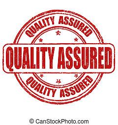 Quality assured stamp - Quality assured grunge rubber stamp...