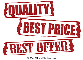 Quality best price and best offer - Stamp with text quality...