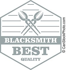 Quality blacksmith logo, simple gray style