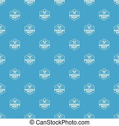 Quality blacksmith pattern vector seamless blue