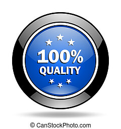 quality blue glossy icon