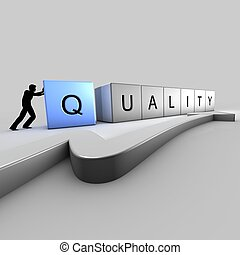 Quality bricks - A man puts up bricks of quality