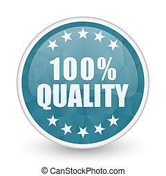 Quality brillant crystal design round blue web icon.