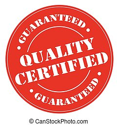 Quality Certified-stamp - Red stamp with text Quality...