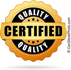 Quality certified vector icon