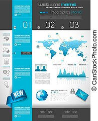 Quality clean web elements for blog and sites