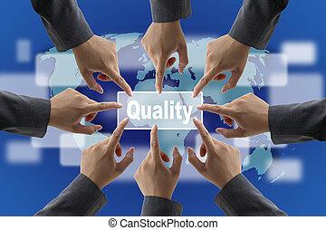 Quality Concept - Business Quality Teamwork Concept