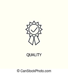 quality concept line icon. Simple element illustration. quality concept outline symbol design. Can be used for web and mobile