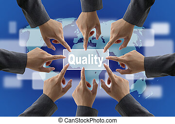 Quality Concept - Business Quality Teamwork Concept