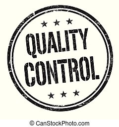Quality control grunge rubber stamp on white background,...