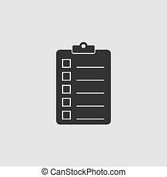 Quality control icon flat