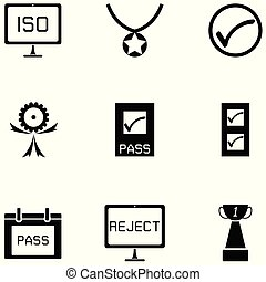 quality control icon set
