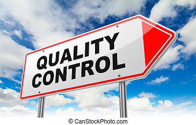 Quality Control on Red Road Sign. - Quality Control - ...