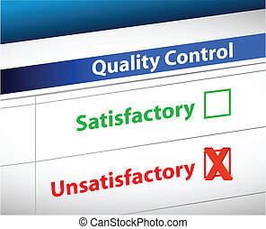 quality control Results business paperwork illustration ...