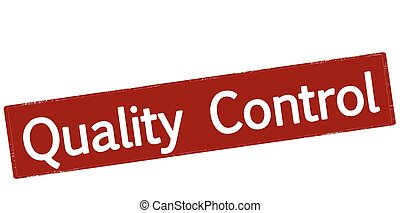 Quality control - Rubber stamp with text quality control ...