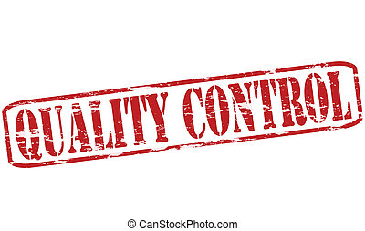 Quality control - Rubber stamp with text quality control...