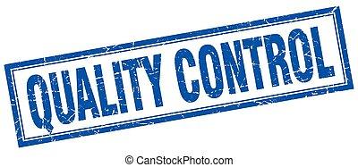 quality control square stamp