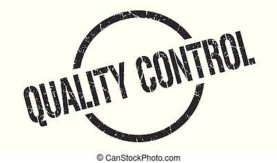 quality control stamp - quality control black round stamp