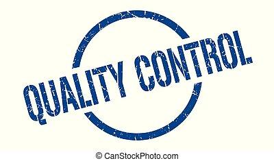 quality control stamp - quality control blue round stamp