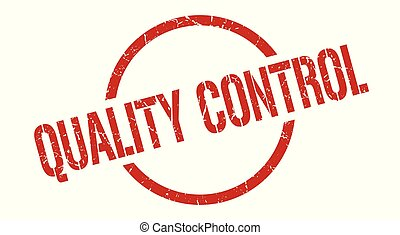 quality control stamp - quality control red round stamp
