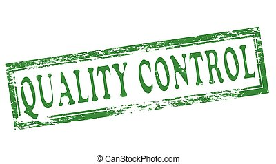 Quality control - Stamp with text quality control inside, ...
