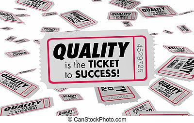 Quality Good Great Product Reviews Ticket Success 3d Illustration